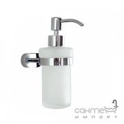 Дозатор для жидкого мыла Аква Родос Gloria 8133 белая керамика/хром