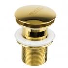 Донный клапан c переливом Newarc 740773G  золото