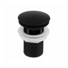 Донный клапан с переливом Newarc 740773CB черный