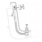 Сифон для ванны Hafro 0SCA1N0 хром