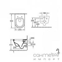 Унитаз Villeroy&Boch Omnia Architectura Directflush 5684HR01 с крышкой + инсталляция TECE