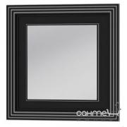 Зеркало Botticelli Treviso ТM-80 чёрное, патина серебро