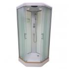 Душевой бокс Veronis BN-1-90 Xl white профиль хром, задние стенки белые, двери матовые (фабрик)