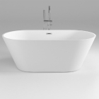 Акриловая отдельностоящая ванна Dusel DU103 белая