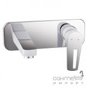 Смеситель для раковины настенный Imprese Breclav VR-05245W хром/белый