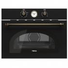 Встраиваемая микроволновая печь Teka Rustika MWR 32 BIA VB 40586034 черная, ручки латунь