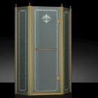 Пентагональная душевая кабина Godi Golden Lily 1005 gold/matt gloss