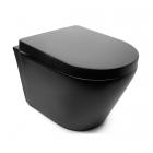 Подвесной безободковый унитаз с сидением softclose slim Newarc Life Rimless 9823B-M черный матовый