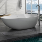 Ванна из литого камня iStone Olivia WD6550 Matt White матовый белый камень