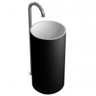 Раковина из искусственного камня цельнолитая с пьедесталом iStone Colleen WD38374 Black Matte черный матовый