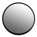 Зеркало с LED-подсветкой iStone Round WD2906-2 black matte рама черный матовый камень
