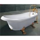 Ванна на золотых львиных лапах Dusrux LQ1880 (со смесителем)