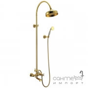 Душевая стойка со смесителем для ванны Imprese Cuthna T-10280 zlato-n золото