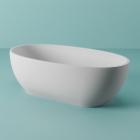 Отдельностоящая ванна из искусственного камня Artceram Hoop ACW002 05 белая матовая