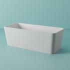 Отдельностоящая ванна из искусственного камня Artceram Square ACW004 05 белая матовая