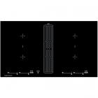 Индукционная варочная поверхность со встроенной вытяжкой Kuppersbusch KMI9800.0SR черная/рамка нерж. сталь