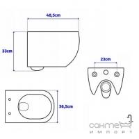 Унитаз подвесной безободковый Rea Carter Rimless slim REA-C1400 белый