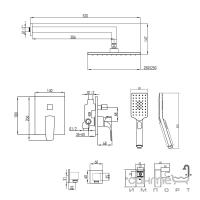 Душевая система скрытого монтажа Imprese Valtice VR-50320