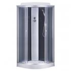 Душевой бокс на низом поддоне Sansa 6690A/15 профиль сатин, стекло серое, стенки черные