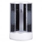 Душевой бокс Sansa 9900А 100 без панели управления, стекло мозаик-серое
