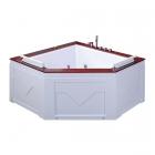 Гидро-аэромассажная акриловая ванна Iris TLP-667 белая/натуральный дуб