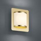 Настенный LED-светильник Trio Agento 278070108 матовая латунь/белая ткань