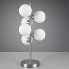 Настольная лампа Trio Alicia 507690607 матовый никель/белое стекло