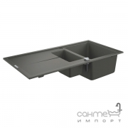 Гранитная кухонная мойка Grohe K400 31642AT0 серый гранит