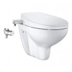 Безободковый подвесной унитаз + термостат + сидение-биде Grohe Bau Ceramic 3-в-1 39652SH0 белое