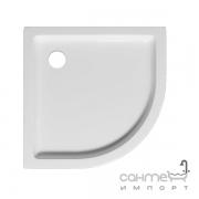 Цельнолитой полукруглый акриловый душевой поддон Ravak Verona 90x90x160 белый