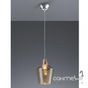 Люстра Trio Calais 304800100 хром/коричневое стекло