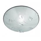 Потолочный светильник Trio Carbonado 602400106 матовое стекло/кристаллы