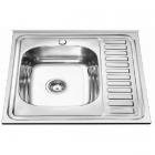 Кухонная мойка из нержавеющей стали Delfi L DF6060LF матовая сталь