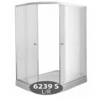 Душевая кабина с низким поддоном Delfi 6239S R профиль сатин/стекло фабрик