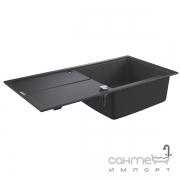 Гранитная кухонная мойка Grohe K400 31641AP0 черный гранит
