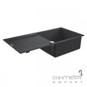 Гранитная кухонная мойка Grohe K400 31645AP0 черный гранит