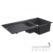 Гранитная кухонная мойка Grohe K500 31646AP0 черный гранит