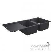 Гранитная кухонная мойка Grohe K500 31647AP0 черный гранит