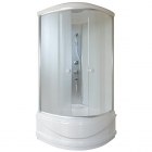 Душевой бокс Q-tap SB8080.2 SAT профиль сатин, стекло фабрик