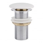 Донный клапан без перелива Q-tap F008 WHI белая керамика