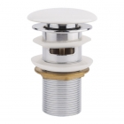 Донный клапан с переливом Q-tap F008-1 WHI белая керамика