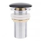 Донный клапан без перелива Q-tap F009 BLA черная керамика