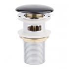 Донный клапан с переливом Q-tap F009-1 BLA черная керамика