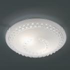 Потолочный светильник Trio Christobal 607700200 матовое стекло/кристаллы