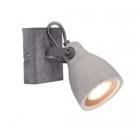 Настенный светильник Trio Concrete 802500178 бетон