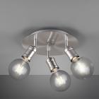 Спот на 3 лампы Trio Carl 800590307 матовый никель