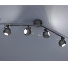 Спот на 4 лампы Trio Reality Bastia R80054032 матовый черный