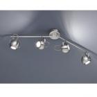 Спот на 4 лампы Trio Reality Bastia R80054007 матовый никель