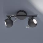 Спот на 2 лампы Trio Reality Bastia R80052032 матовый черный