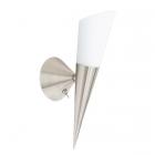 Настенный светильник Trio Cono 2502211-07 матовый никель/белое матовое стекло